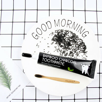 GlorySmile.nl Teeth Whitening Bamboo Charcoal Toothpaste free bamboo toothbrush