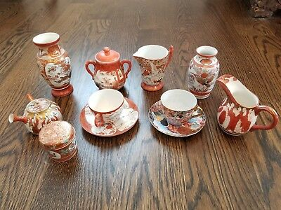 Antique Japanese Porcelain Red / White Collection - Estate Sale