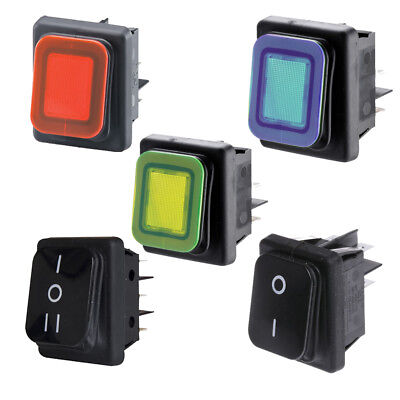Maplin Rocker Switches IP65 22mm x 30mm Cutout - Dust and Splash Proof