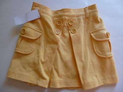 GYMBOREE Fashionable Fox Yellow Pleated Skort Buttons Pockets Size 4 6 7 NEW