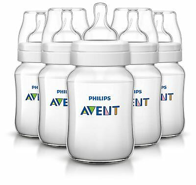Philips Avent Anti-Colic 9oz Baby Feeding Bottles - 5 Pack - Clear