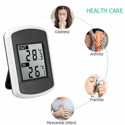 Wireless Digital LCD Thermometer Hygrometer Humidity Indoor Outdoor Temperature