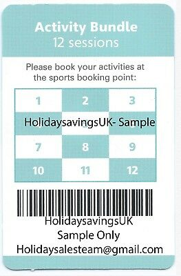 Haven Holiday Activity Pass/Bundle Worth £48 in activities -Official Pass F