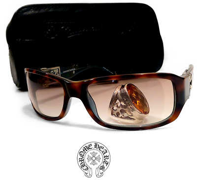 d2b6de6a8beb Chrome Hearts FIX II Collection Brown Lens Length 5.0in Tortoise Sunglasses