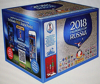 Panini WM 2018 Russia World Cup Sticker 1 x Display - 100 Tüten-Deutsche Ausgabe