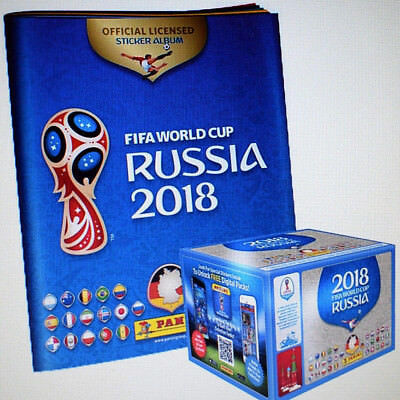 Panini WM 2018 Russia World Cup Sticker 1 x Display + Leeralbum - NEU - OVP