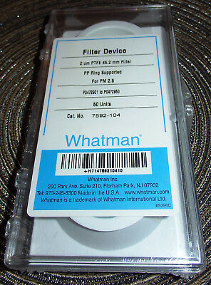Whatman PTFE Filter 46,2 mm PP Ring Supported for PM 2,5 Cat. No. 7592-104