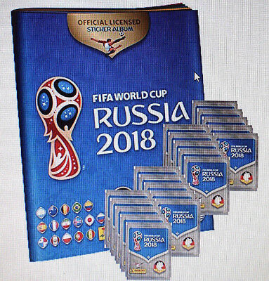 Panini WM 2018 Russia World Cup Sticker 20 Tüten plus 1 Leerheft - NEU - OVP