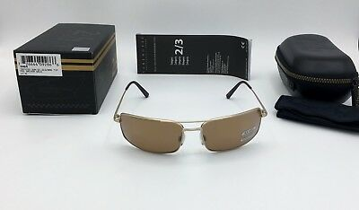 SERENGETI TREVISO 24hr LE MANS SUNGLASSES GOLD POLARIZED BROWN DRIVERS GOLD 8484