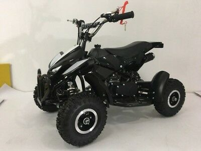 49cc Mini ATV Quad Bike Kids 4 Wheeler Dirt Buggy Pocket Bike BLACK