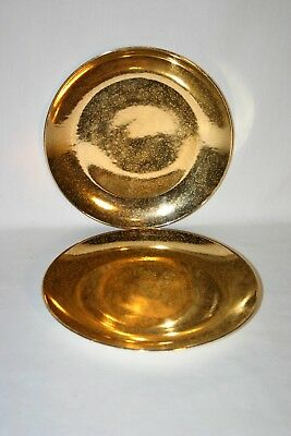 "2 Lady Hamilton 10"" Warrented 22K Gold Dinner plates"