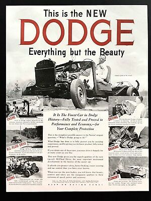 1945 Vintage Print Ad 40's DODGE Truck Car Image Jimmie Lynch