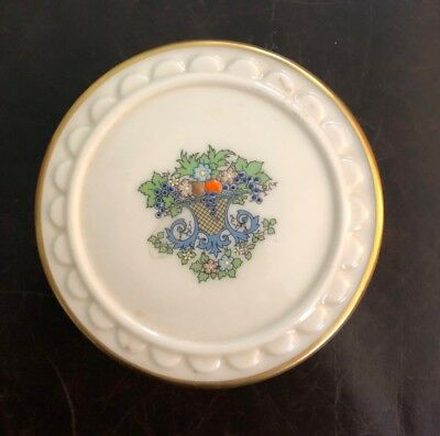 lenox china autumn box hand decorated with 24K gold, mint condition