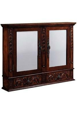 Double Mirrored Antique Look Wall Medicine Cabinet