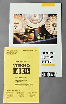 Balcar Complete Catalogue 44 pages and Price list 20 pages from 1988, 9+