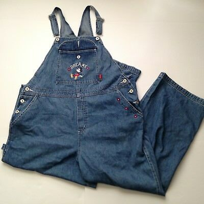 Mickey Mouse Overall Womens XL Blue Denim Cotton Dreamy The DISNEY Store