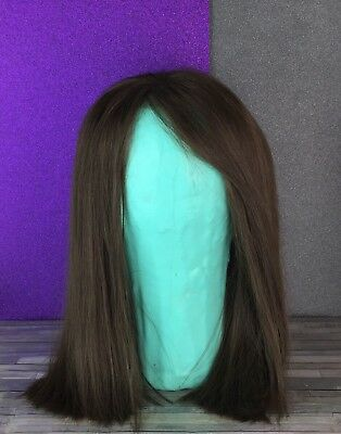 Human Hair Lace  Wig Chocolate Brown