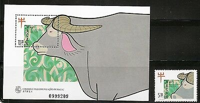 Macao SC # 853-854 New Year 1997, Year Of The Ox. Complete Set .MNH