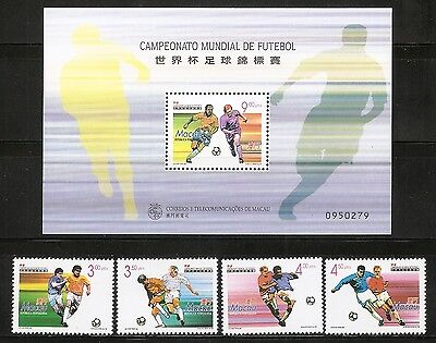 Macao SC # 933-937 World Cup Soccer Championships France . Complete Set .MNH