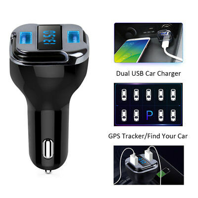 4.2A Dual USB Car Charger Tracker Locator GPS RealTime GSM GPRS Vehicle Tracking