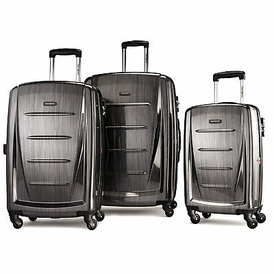 SAMSONITE WINFIELD 2 FASHION 3 PIECE SPINNER SET-CHARCOAL Color