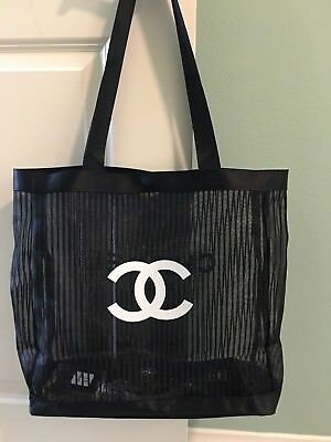 Chanel Beauty 2018 New VIP Gift Mesh Tote Striped