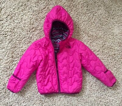 The North Face Baby Girls Reversible Perrito Water Repelliant Jacket. 18-24 Mo