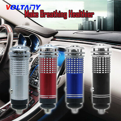 Universal Auto Car Fresh Air Ionic Purifier Oxygen Bar Ozone Ionizer Cleaner New