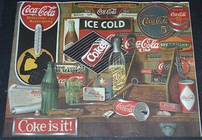 COCA-COLA THROUGH ALL THE YEARS 1985 ORIGINAL 20x16 COMMEMORATIVE ART AD POSTER!