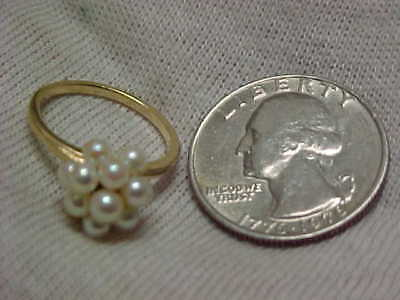 14k SCRAP GOLD 2.8 grams, Lady's PEARL RING, NO RESERVE AUCTION