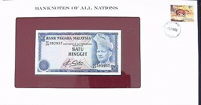 MALAYASIA - 1981 -ONE DOLLAR - P13b - CRISP UNC - BANKNOTES OF ALL NATIONS 7439