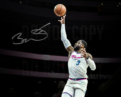 huge discount aee8c bb905 DWYANE WADE MIAMI Heat Vice City Autographed 8x10 Photo Spotlight - Reprint