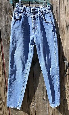 Women's 80s Vtg. Levis Button Fly Tapered  High Waist Denim Jeans 9 US Made