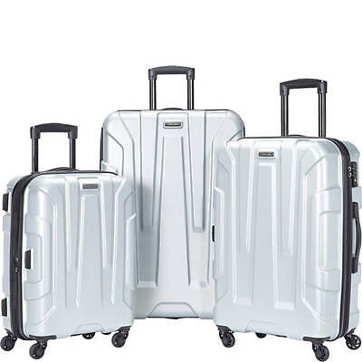 SAMSONITE CENTRIC 3 PIECE SPINNER SET-SILVER Color