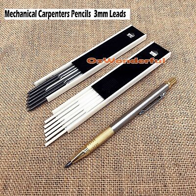 3mm LEADS mechanical CARPENTERS PENCILS BUILDERS TRADESMAN CLUTCH PENCILS
