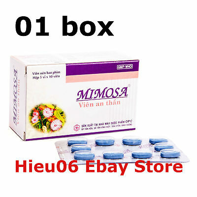 1 Box X 50 Mimosa Tablets Natural Sedative Very Effective Herbal Sleeping Pills