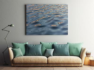 Framed Canvas Stretched Print Water Surface Ripples Liquid Blue