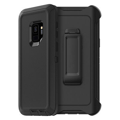 For Samsung Galaxy S9 Plus Defender Case 3 Layer Shockproof Cover with Belt Clip