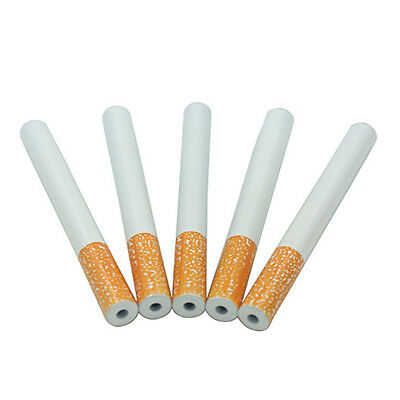 1pc Cigarette Shape Metal Pipe Smoking Accessory One Hitter Tobacco Pipe 55cm
