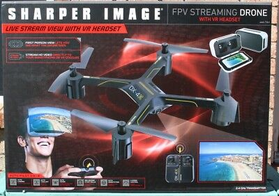Sharper Image Fpv Streaming Large Drone W Vr Headset Dx 4 Brand New