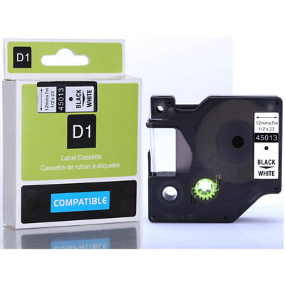 45013 Compatible for DYMO D1 Label Tape Cartridge Cassette Black on White 12mm A
