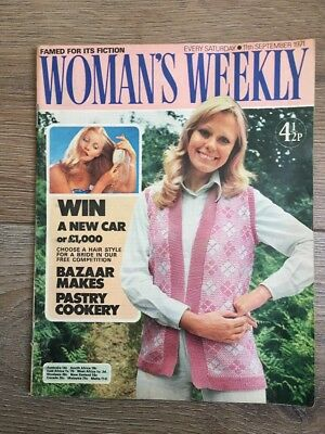 Womans Weekly 11 Sep 1971 Knitting Patterns Isobel Chace Greta