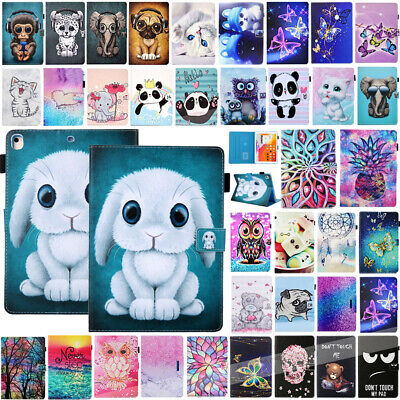 AU For iPad 2 3 4 Mini 9.7 2018/2017 Pattern Flip Leather Case Stand Card Cover