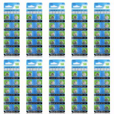 100 Pcs LR1154 Coin Cell Button 357 Alkaline  357A 303 Watch AG13 LR44 Battery