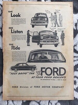 1950 Ford Ad from the Sporting News Magazine