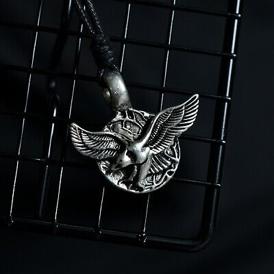 American Eagle Silver Pewter Charm Necklace Pendant Jewelry