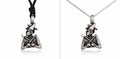 Egyptian King God Pharaoh Silver Pewter Charm Necklace Pendant Jewelry