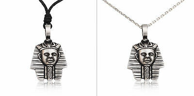 Egyptian Pharaohs King Silver Pewter Charm Necklace Pendant Jewelry