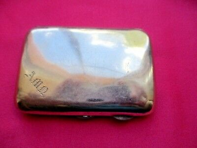 Small Antique Old Collectors Sterling Silver Cigarette Case FREEPOST