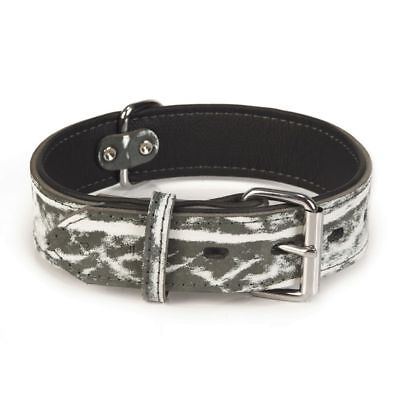 Beeztees Collare Collarino Morbido per Cani Cane Safari in Pelle 40 mm 42-51 cm